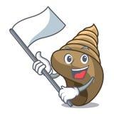 Med tecknade filmen för maskot för flaggaspiralskal royaltyfri illustrationer