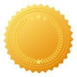 Medaglia in bianco del premio Immagini Stock