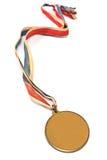 Medaglia d'annata di sport dell'oro Fotografie Stock Libere da Diritti