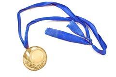 Medaglia d'annata di sport dell'oro Fotografia Stock