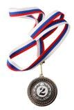 Medaglia d'argento Fotografie Stock Libere da Diritti