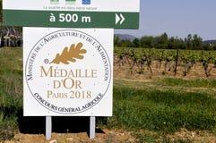 Medaglia d'oro alla concorrenza agricola di Parigi 2018 fotografie stock