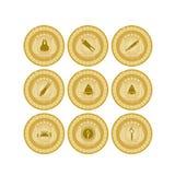Medaglia d'oro sport-7 Fotografie Stock