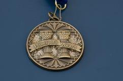 Medaglia del premio del principale Immagini Stock Libere da Diritti