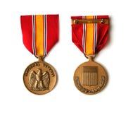 Medaglia della difesa nazionale Fotografia Stock Libera da Diritti