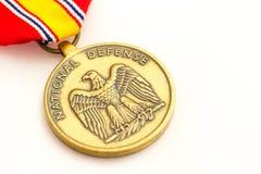 Medaglia della difesa nazionale Fotografia Stock