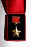 Medaglia della stella d'oro dell'Unione Sovietica Immagine Stock