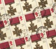 Medaglia della traversa di Victoria - francobolli Immagine Stock