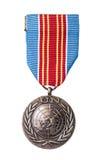 Medaglia delle nazioni unite Fotografie Stock Libere da Diritti