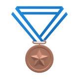 Medaglia di bronzo Fotografia Stock Libera da Diritti