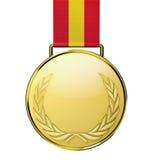 Medaglia di oro Fotografia Stock Libera da Diritti