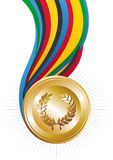 Medaglia di oro dei giochi di Olimpiadi Fotografia Stock Libera da Diritti