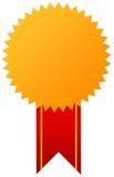 Medaglia di oro del premio con il nastro Fotografia Stock