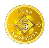 medaglia di oro della garanzia da 5 anni Immagini Stock