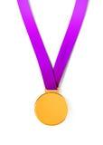 Medaglia di sport su fondo bianco Immagini Stock