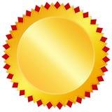Medaglia dorata in bianco del premio Fotografia Stock