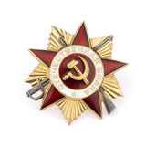 Medaglia militare russa Fotografie Stock