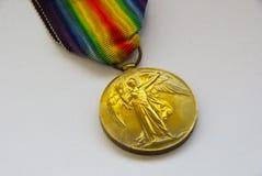 Medaglia Regno Unito di guerra mondiale 1 Fotografia Stock