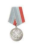 Medaglia & x22; Veterano di Labour& x22; Fotografia Stock Libera da Diritti