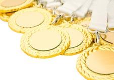 Medaglie d'oro Immagine Stock