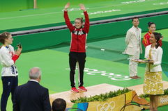 Medaglie del trampolene delle donne Rio2016 Fotografie Stock