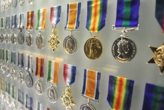 Medaglie di Honour al santuario del ricordo Immagine Stock Libera da Diritti