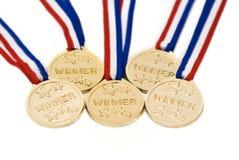 Medaglie di oro Fotografia Stock