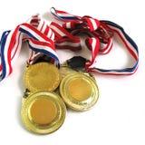 Medaglie di oro Immagine Stock