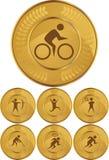 Medaglie di oro olimpiche Fotografie Stock