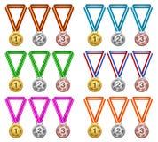 Medaglie, premio, successo, campione Immagini Stock Libere da Diritti