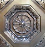 Medaglione decorativo del metallo immagini stock