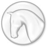 Medaglione del cavallo Immagini Stock