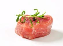 Medaglione del raccordo della carne di maiale Immagine Stock Libera da Diritti