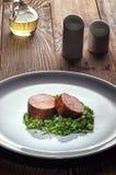 Medaglioni del filetto di carne di maiale Fotografie Stock Libere da Diritti