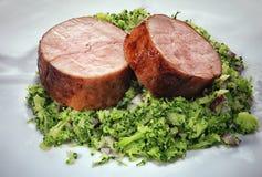 Medaglioni del filetto di carne di maiale Fotografia Stock