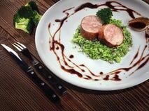 Medaglioni del filetto di carne di maiale Immagini Stock Libere da Diritti