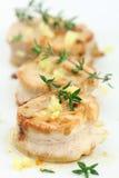 Medaglioni del filetto di porco Immagine Stock