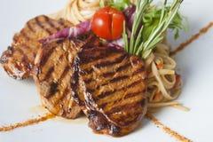 Medaglioni della carne di maiale Fotografia Stock Libera da Diritti
