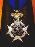 Medaille比利时军队 免版税图库摄影