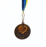 Medaille auf weißem Hintergrund Stockbilder