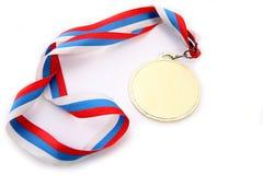 Medaille en kleurenLint royalty-vrije stock afbeelding