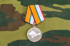 Medaille für die Rückkehr der Krim Stockfotos