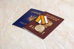 Medaille für die Rückkehr der Krim Lizenzfreie Stockfotos