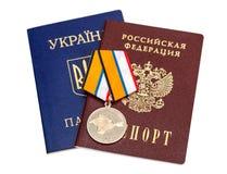 Medaille für die Rückkehr der Krim Stockfoto