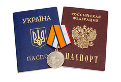Medaille für die Rückkehr der Krim Stockbild