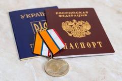 Medaille für die Rückkehr der Krim Lizenzfreie Stockbilder