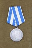 Medaille ` 300 jaar van Russische vloot ` stock fotografie