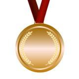 Medaille met rood lint Royalty-vrije Stock Afbeeldingen