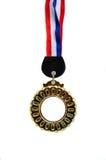 Medaille mit Band Stockbild