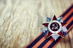 Medaille und die Bestellung des Weltkriegs UDSSR Stockbilder